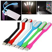 USB LED Lamp  голубая, зеленая, белая