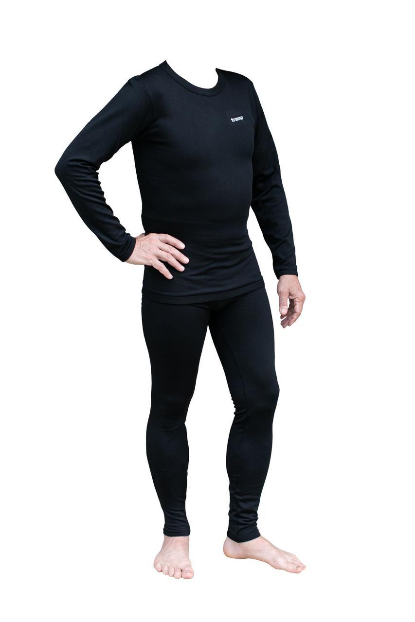 Термобелье мужское Tramp Warm Soft комплект (футболка+кальсоны) TRUM-019 S-M черный