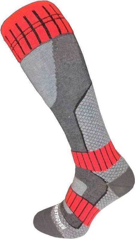 Шкарпетки Destroyer Ski/Snowboard Універсальний Сірий / Світло. Сірий / Червоний 35-37