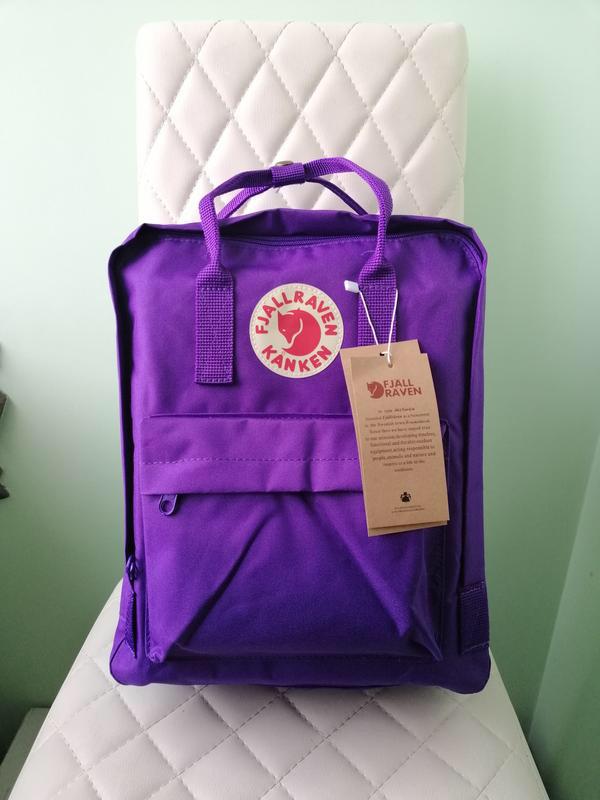 Стильный рюкзак канкен фиолетовый детский на девочку Fjallraven Kanken classic