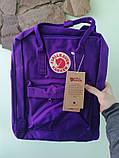 Стильный рюкзак канкен фиолетовый детский на девочку Fjallraven Kanken classic, фото 3
