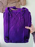 Стильный рюкзак канкен фиолетовый детский на девочку Fjallraven Kanken classic, фото 5