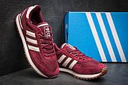 Кроссовки мужские 11484, Adidas, бордовые ( размер 44 - 27,7см ), фото 4