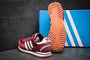 Кроссовки мужские 11484, Adidas, бордовые ( размер 44 - 27,7см ), фото 5