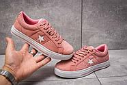 Кеды женские 13842, Converse, розовые ( размер 39 - 24,6см ), фото 2