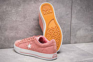 Кеды женские 13842, Converse, розовые ( размер 39 - 24,6см ), фото 4