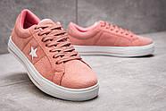 Кеды женские 13842, Converse, розовые ( размер 39 - 24,6см ), фото 5