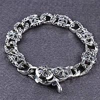 Мужской серебряный браслет Chrome Hearts Кельтский Крест 60,89 гр.
