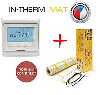Теплый пол In-therm 200 Вт/м²- 5,3м² нагревательный мат с программируемым терморегулятором E51