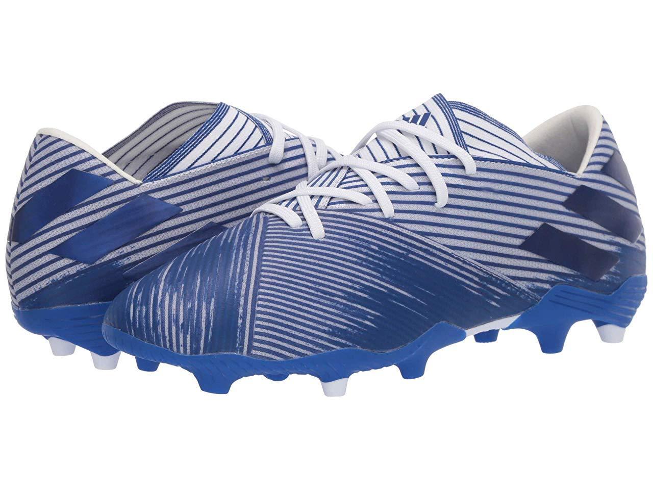 Кроссовки/Кеды adidas Nemeziz 19.2 FG Footwear White/Team Royal Blue/Team Royal Blue