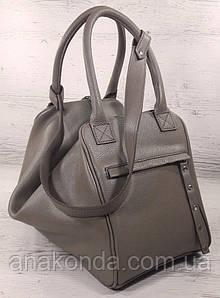 143 Натуральная кожа, объемная сумка-трансформер женская спортивная сумка кожаная дорожная кофейная