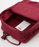Молодежный женский бордовый рюкзак-сумка канкен Fjallraven Kanken classic, фото 5