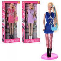 Кукла DEFA 8271 (24шт) 31см, сумочка, 3 цвета, в кор-ке, 13-32-6см Н