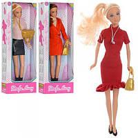 Кукла DEFA 8365 (48шт) 29см, сумочка, 3 вида, в кор-ке, 31-11-5см Н