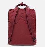 Молодежный женский бордовый рюкзак-сумка канкен Fjallraven Kanken classic, фото 6