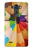 Чехол для LG G4 (Цветные карандаши)