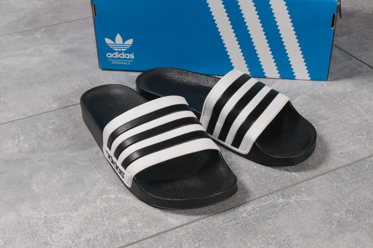 Шлепанцы мужские 16282, Adidas, черные ( размер 44 - 28,7см )