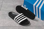 Шлепанцы мужские 16282, Adidas, черные ( размер 44 - 28,7см ), фото 5