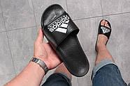 Шлепанцы мужские 16292, Adidas Equipment, черные ( размер 44 - 28,4см ), фото 4