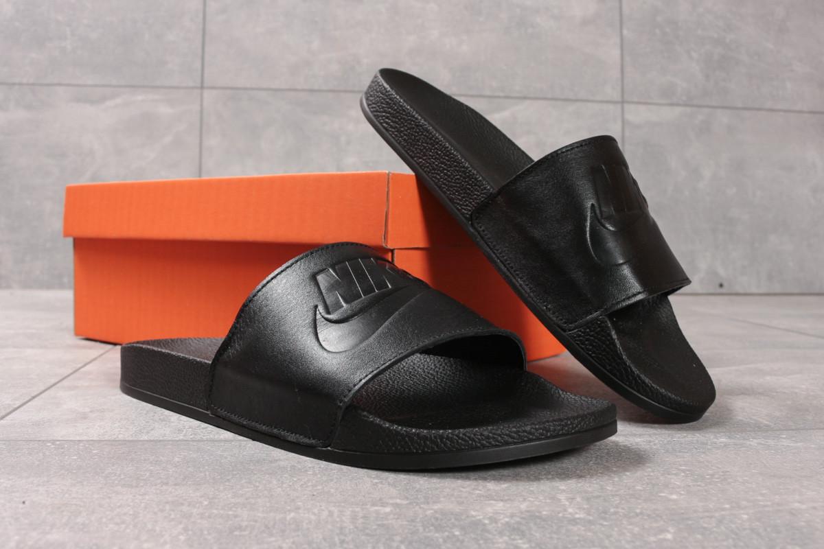 Шлепанцы мужские 16341, Nike, черные ( размер 41 - 27,0см )