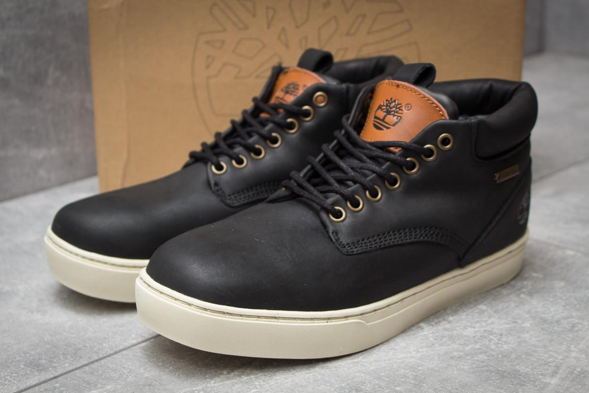 Зимние мужские ботинки 30112, Timberland Groveton, черные ( размер 41 - 25,9см )