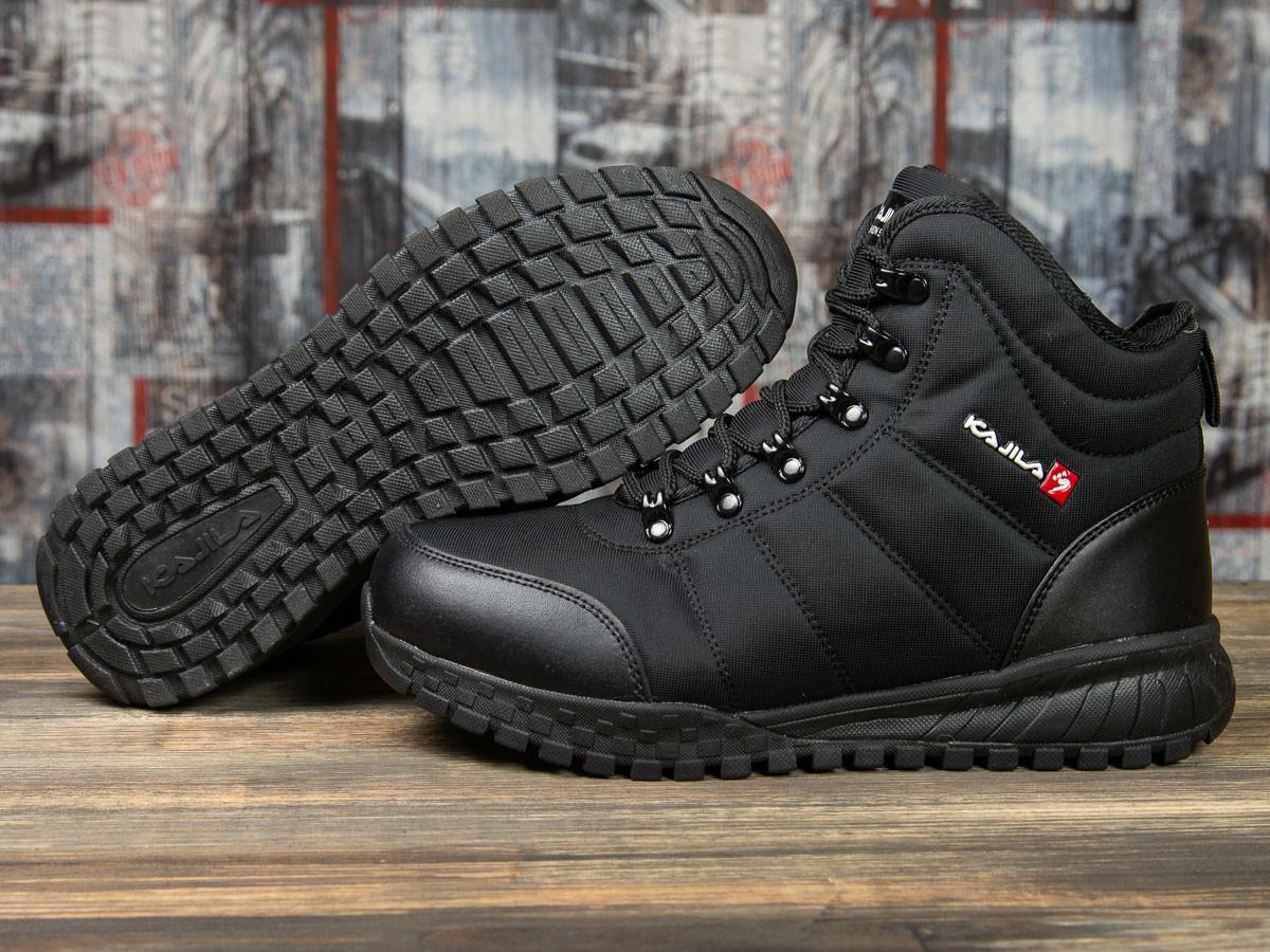 Зимние мужские кроссовки 30981, Kajila Fashion Sport, черные ( размер 41 - 26,7см )