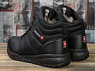 Зимние мужские кроссовки 30981, Kajila Fashion Sport, черные ( размер 41 - 26,7см ), фото 4