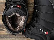 Зимние мужские кроссовки 30981, Kajila Fashion Sport, черные ( размер 41 - 26,7см ), фото 5