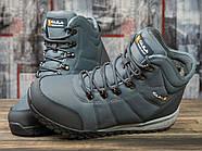 Зимние мужские кроссовки 30982, Kajila Fashion Sport, темно-серые ( размер 41 - 26,7см ), фото 3