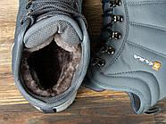 Зимние мужские кроссовки 30982, Kajila Fashion Sport, темно-серые ( размер 41 - 26,7см ), фото 5