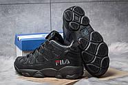 Зимние мужские кроссовки 30461, Fila Spaghetti, черные ( размер 42 - 26,5см ), фото 4
