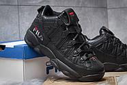 Зимние мужские кроссовки 30461, Fila Spaghetti, черные ( размер 42 - 26,5см ), фото 5