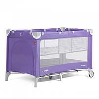 Детский манеж CARRELLO Piccolo+ CRL-9201 со вторым дном, фиолетовый