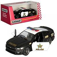 Машинка KT5386WP (24шт) металл,инер-я,полиция,12см,1:38,откр.двери,рез.колеса,в кор-ке,16-7-8см Н