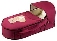 Люлька-переноска Babyroom BLA-056 с твердым дном аппликация  бордо (мишка стоит с сердцем)