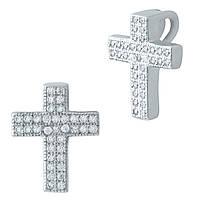 Серебряный крестик  с фианитами , фото 1