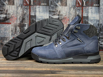Зимние мужские ботинки 31051, Diesel Denim Division, темно-синие ( размер 40 - 26,2см )