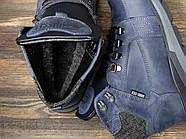 Зимние мужские ботинки 31051, Diesel Denim Division, темно-синие ( размер 40 - 26,2см ), фото 5