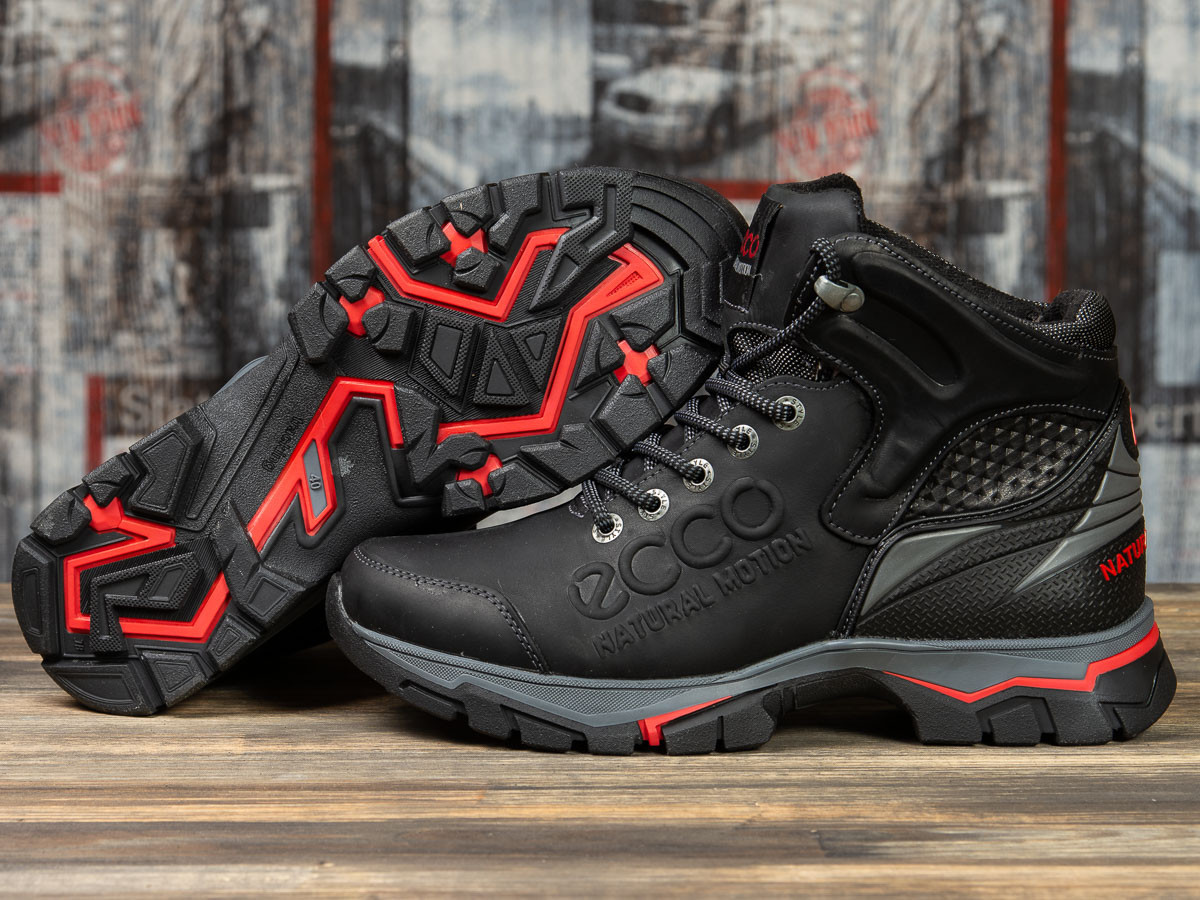 Зимние мужские ботинки 31172, Ecco Natural Motion, черные ( размер 40 - 26,5см )