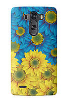 Чехол для LG G4 (Сине-желтые цветы)