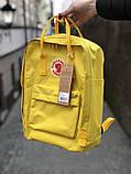 Рюкзак-сумка канкен желтый Fjallraven Kanken classic школьный, для девочки, фото 2
