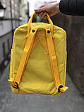 Рюкзак-сумка канкен желтый Fjallraven Kanken classic школьный, для девочки, фото 3