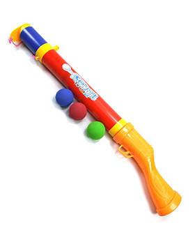 Снежкострел, бластер + 3 шт. мягкие пули, 1014, длина 51см
