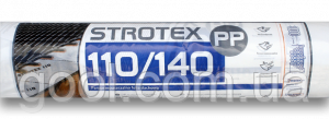 Гидроизоляционная плёнка Стротекс (Strotex) PP плотность 110 гр/м2 1,5х50 м.п. рулон 75 м2