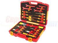 Универсальный набор диэлектрического инструмента TOLSEN VDE Premium, 18 предметов (V83718)