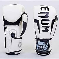 Перчатки боксерские PU на липучке VENUM BO-5698-W (реплика) 14 унций