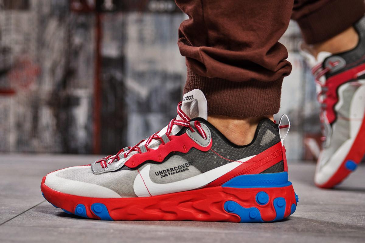 Кроссовки мужские 15392, Nike React, красные ( размер 42 - 27,0см )