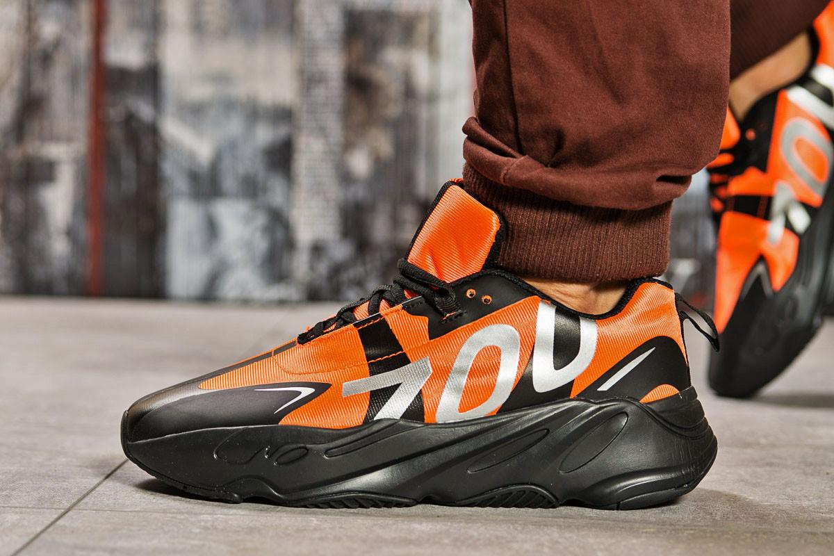 Кроссовки мужские 15523, Adidas Yeezy 700, оранжевые ( размер 43 - 28,0см )