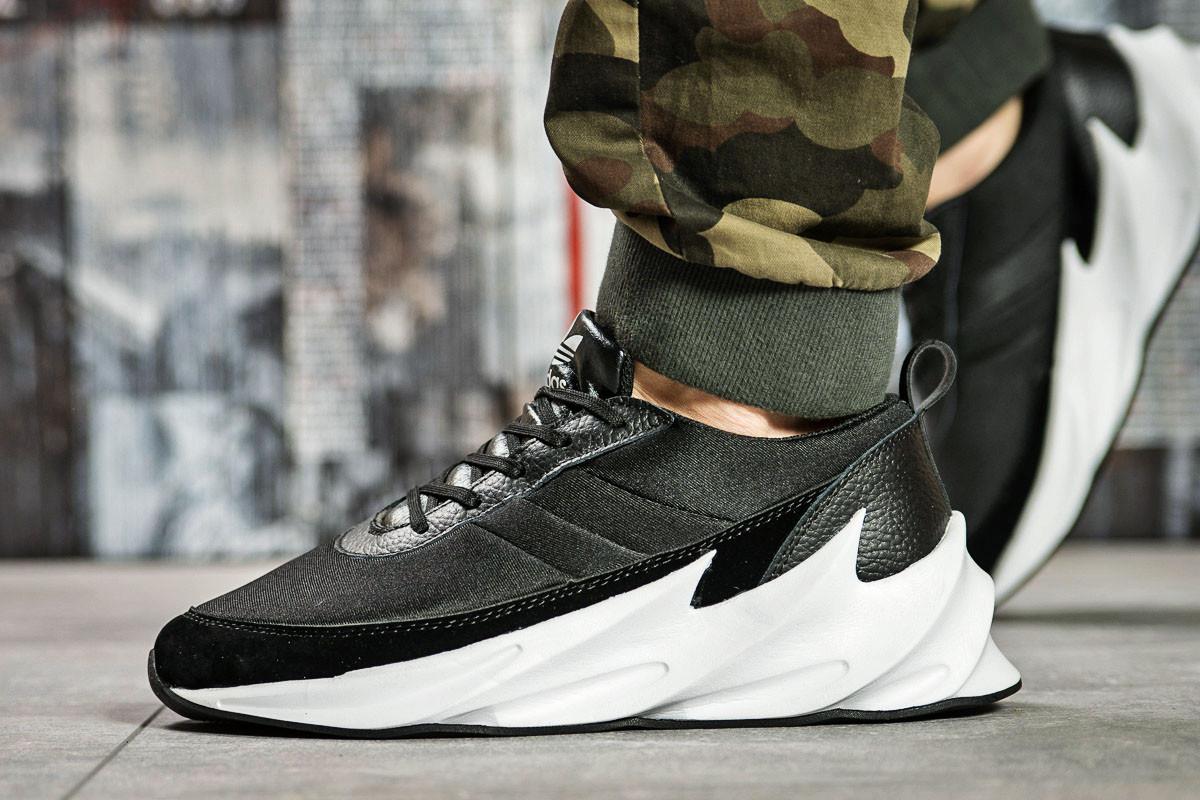 Кроссовки мужские 15602, Adidas Sharks, черные ( размер 44 - 28,0см )