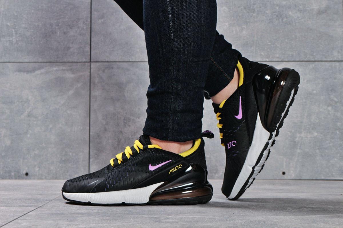 Кроссовки женские 16175, Nike Air 270, черные ( размер 37 - 23,6см )